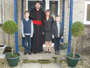 Reverend Hancock and family