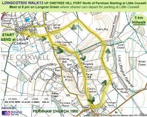 Walk 13 map